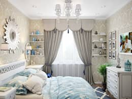Квартира в стиле современная классика: Спальни в . Автор – Студия дизайна интерьера Маши Марченко