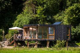 Geuloever: moderne Huizen door Zwarthout Shou Sugi Ban