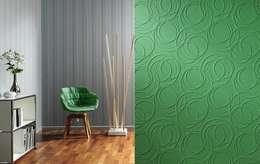 4 Duvar İthal Duvar Kağıtları & Parke – Uygulamalar 2 : modern tarz Duvar & Zemin