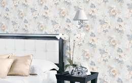 4 Duvar İthal Duvar Kağıtları & Parke – Uygulamalar 2 : modern tarz Yatak Odası