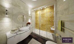 Квартира в историческом центре Санкт-Петербурга: Ванные комнаты в . Автор – Студия дизайна 'Азбука Дом'