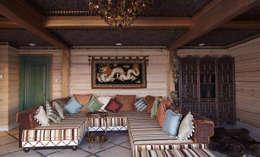 Загородный дом в Конаково: Гостиная в . Автор – Trubnikoff Hall
