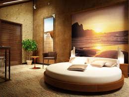 Спальня в пентхаусе: Спальни в . Автор – Anfilada Interior Design