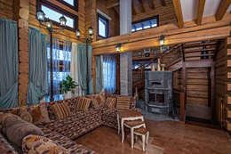 rustic Living room by Николай Карачев