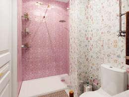 """Квартира в ЖК """"Парадный квартал"""": Ванные комнаты в . Автор – Студия дизайна интерьера Маши Марченко"""