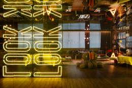 Projekty,  Salon zaprojektowane przez Studio ro+ca