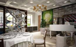 Anfilada Interior Design: kolonyal tarz tarz Oturma Odası