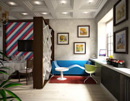 غرفة المعيشة تنفيذ Anfilada Interior Design