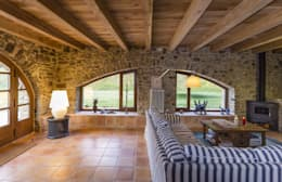 rustic Living room by VelezCarrascoArquitecto VCArq