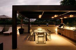 Terrazas de estilo  por Rafael Zalc Arquitetura e Interiores