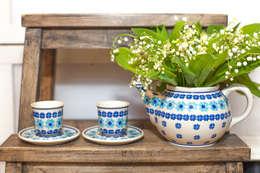 Ceramika Bolesłąwiec: styl , w kategorii Jadalnia zaprojektowany przez Folkstar