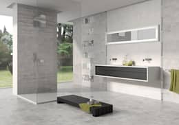 Casas de banho minimalistas por Azulev