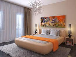 Квартира в скандинавском стиле в Перми: Спальни в . Автор – Студия дизайна интерьера Маши Марченко