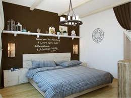Квартира в г. Гатчина: Спальни в . Автор – Студия дизайна интерьера Маши Марченко