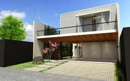 Casas de estilo moderno por Quattro+ Arquitetura