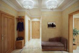 Corridor, hallway by Студия интерьера 'SENSE'
