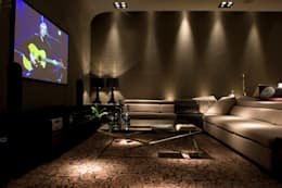 modern Media room by dsgnduo