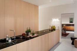 Wohnung MM: minimalistische Küche von BATEK ARCHITECTS / ESTER BRUZKUS ARCHITECTS