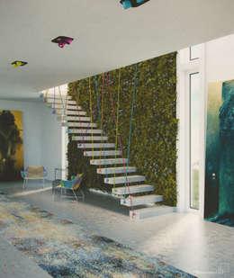 Corridor & hallway by Seryjny Projektant