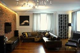"""eklektycznie i """"parysko"""" na Bemowie: styl , w kategorii Salon zaprojektowany przez Pracownia Projektowa Pe2"""