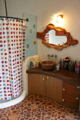 Baño de Tercer Recamara Casa Santa Fe: Baños de estilo  por Cenquizqui