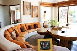 rustic Living room by Cenquizqui