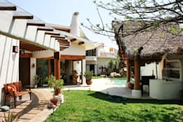 Jardín con Palapa: Jardines de estilo rural por Cenquizqui