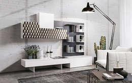 غرفة المعيشة تنفيذ Ronda Design
