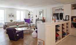 Autour d'une entrée- Paris- 1e: Salon de style de style Moderne par ATELIER FB