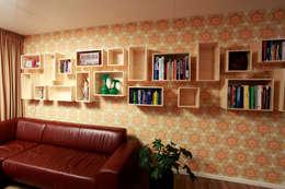 modern Living room by Marlies van Geenen, Meubelwerkplaats