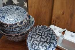 Houten planken: mediterrane Keuken door Aan tafel met Karin