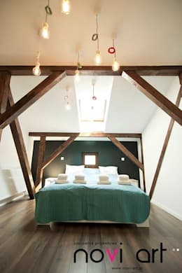 K12 apartament Kraków: styl , w kategorii Sypialnia zaprojektowany przez Novi art