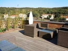 MOSO bamboo x-treme terrasplanken: klassiek Balkon, veranda & terras door MOSO International B.V.
