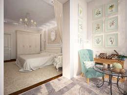 Французский дворик на балконе: Tерраса в . Автор – Гурьянова Наталья