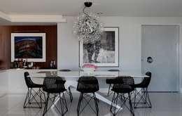Comedores de estilo moderno por Rodrigo Maia Arquitetura + Design