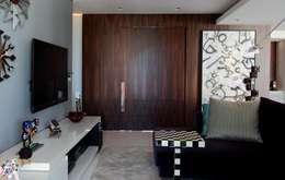 Edifício Maison Karine: Paredes  por Rodrigo Maia Arquitetura + Design