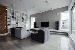 Mieszkanie Mokotów: styl , w kategorii Salon zaprojektowany przez Devangari Design