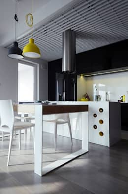 Mieszkanie Mokotów: styl , w kategorii Kuchnia zaprojektowany przez Devangari Design