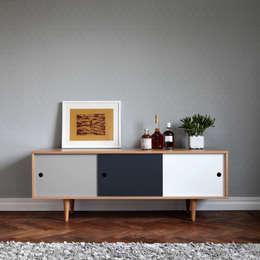 Sideboard Cosmo im Scandi-Style: skandinavische Wohnzimmer von Baltic Design Shop