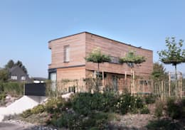 Projekty, nowoczesne Domy zaprojektowane przez nimmrichter architekten ETH SIA AG