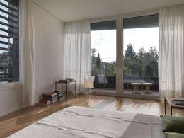 Projekty,  Sypialnia zaprojektowane przez nimmrichter architekten ETH SIA AG