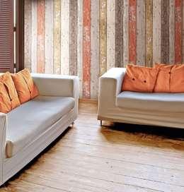 Paredes y pisos de estilo moderno por TapetenStudio.de