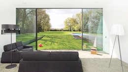 Livings de estilo minimalista por form A architekten