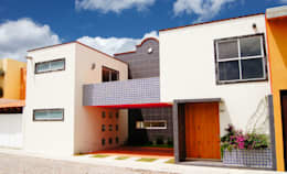 Fachada, Casa Cuayantla: Casas de estilo colonial por Itech Kali