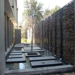 Gabion Mauer: moderner Garten von Paul Marie Creation