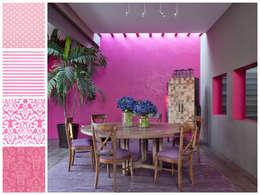 Comedor con mesa redonda: Comedores de estilo moderno por MARIANGEL COGHLAN