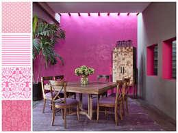 Comedor con mesa cuadrada extensible a rectangular: Comedores de estilo moderno por MARIANGEL COGHLAN