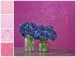 Flores: Comedor de estilo  por MARIANGEL COGHLAN