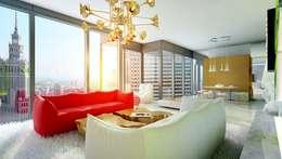 Гостиная в . Автор – High Level Design Studio