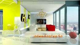 COSMO DESIGN: styl , w kategorii Salon zaprojektowany przez High Level Design Studio